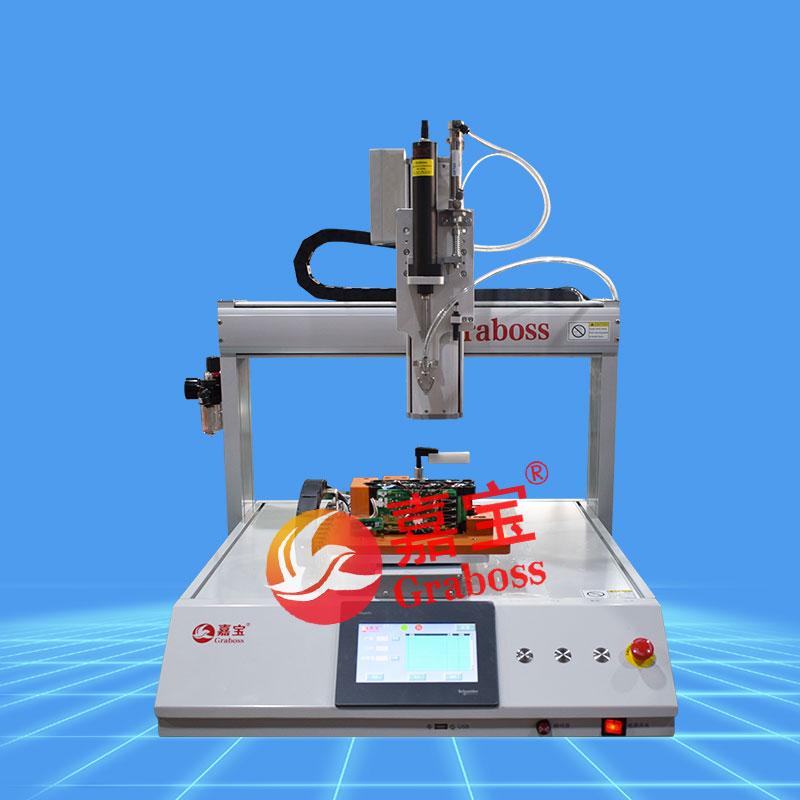 桌面三轴气吹式拧电池配件螺丝机-缩略图