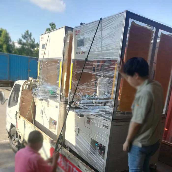 落地式自动拧螺丝机装车出货送往客户现场