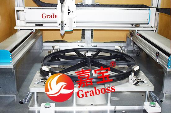 落地气吹式轮椅轮子自动拧螺丝机——载具图