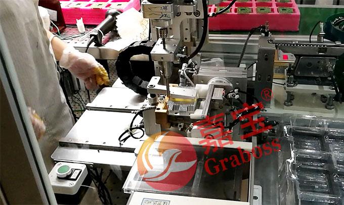 智能化机器人锁螺丝机产品及载具图